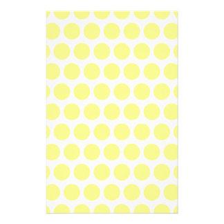 Lemon Sherbet Polka Dots Stationery