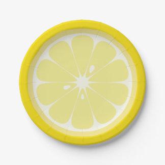 Lemon Slice 7 Inch Paper Plate