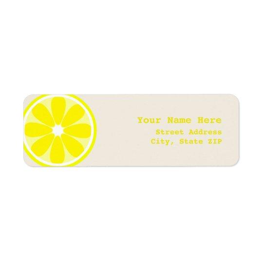 Lemon Slice Address Label