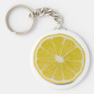 lemon slice basic round button key ring