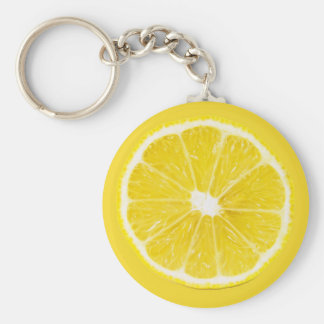lemon slice basic round button key ring