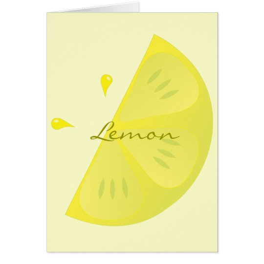 Lemon Slice Card