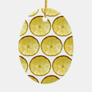 Lemon slice christmas ornament