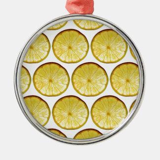 Lemon slice christmas ornament