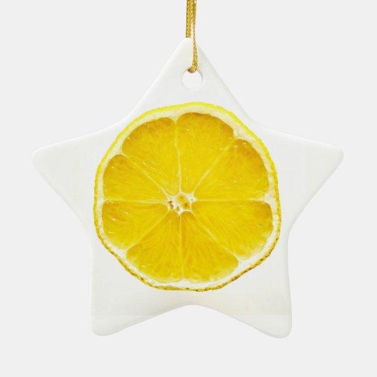 Lemon Slice Dble-Sided Star Ornament
