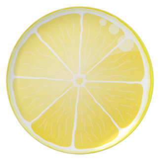 Lemon Slice Party Plates