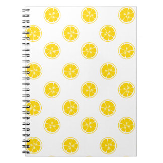 Lemon Slice Pattern Note Book