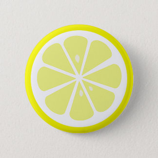 Lemon Slice Pinback Button