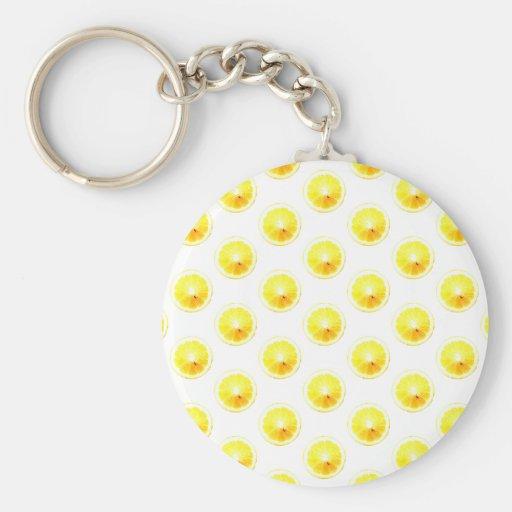 Lemon Slice Polka Dots Key Chain