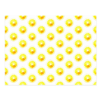 Lemon Slice Polka Dots Postcard