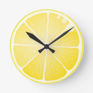 Lemon Slice Round Clock