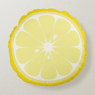 Lemon Slice Round Cushion