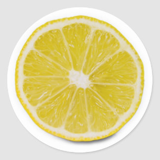 lemon slice round sticker