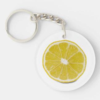 lemon slice Single-Sided round acrylic key ring