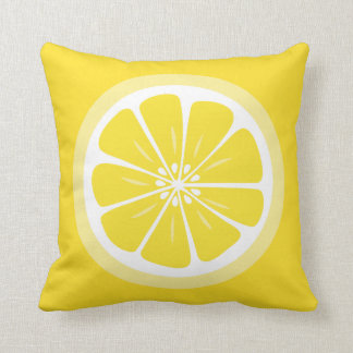 Lemon Slice Summer Fun Throw Pillow