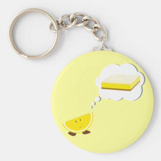 Lemon slice thinking of lemon bar key chains