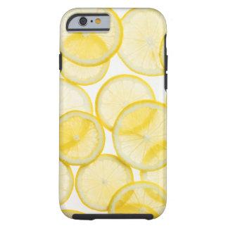 Lemon slices arranged in pattern backlit tough iPhone 6 case