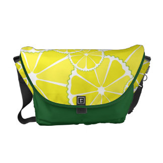 Lemon slices courier bag