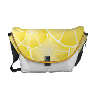 Lemon Slices Courier Bags
