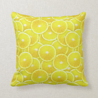 Lemon slices cushion