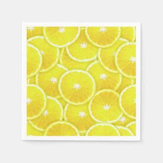 Lemon Slices Digital Montage Disposable Napkins