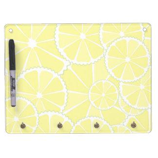 Lemon slices dry erase board with key ring holder