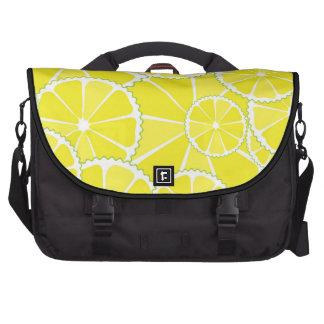 Lemon slices laptop computer bag