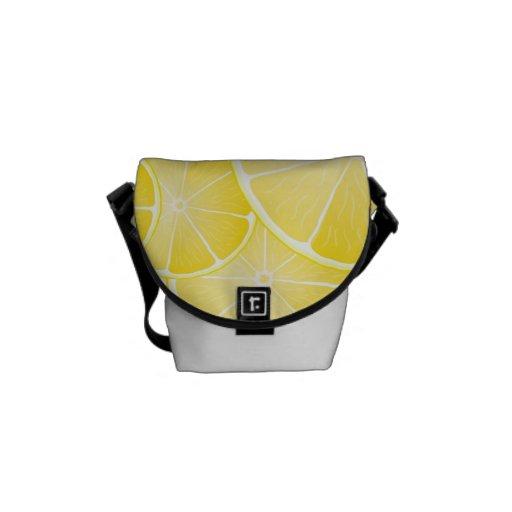 Lemon Slices Messenger Bags
