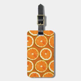 Lemon Slices Pattern Luggage Tag