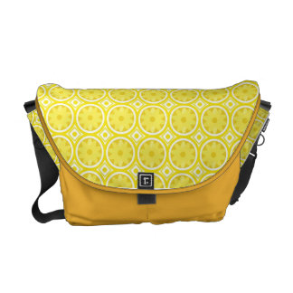 Lemon slices pattern courier bags