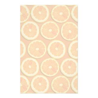 Lemon Slices Pattern Stationery