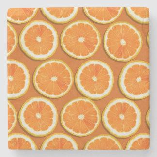 Lemon Slices Pattern Stone Beverage Coaster