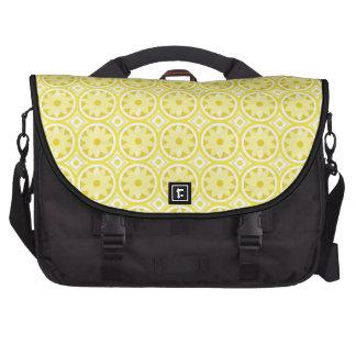 Lemon slices patterns laptop computer bag