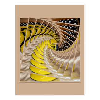 Lemon Slices Spiral Staircase with Polka Dot Boots Postcards