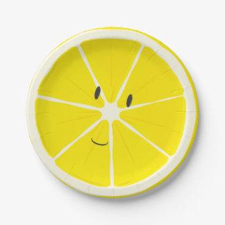 Lemon smiling | Paper Plate