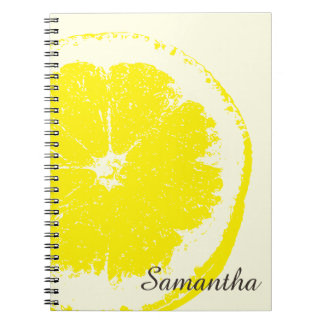 Lemon Spiral Note Books