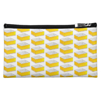 Lemon Square Bar Pastry Dessert Bake Sale Bakery Cosmetic Bag