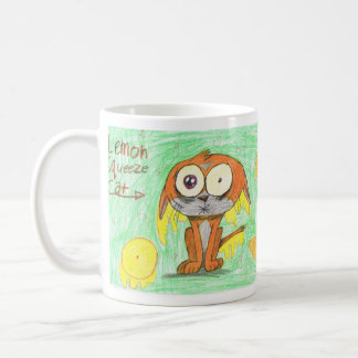 Lemon Squeeze Cat Coffee Mugs