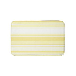 Lemon stripes bath mats