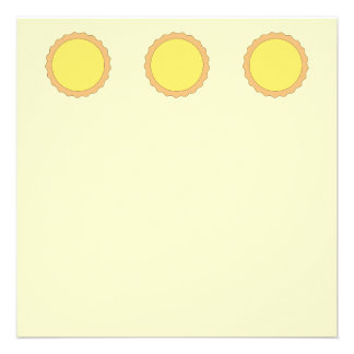 Lemon Tart Pastry Sunny Yellow Personalized Announcement