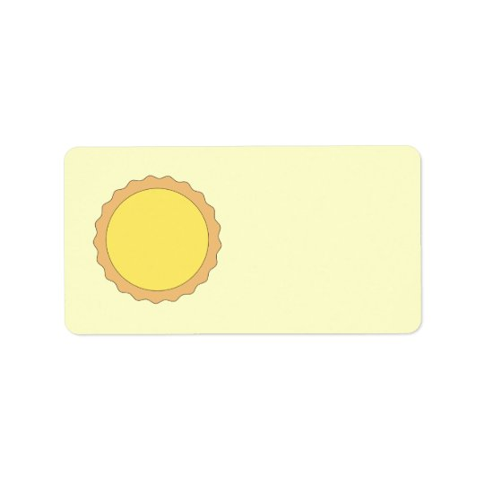 Lemon Tart Pastry. Sunny Yellow. Label