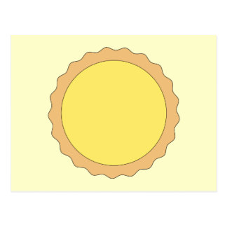 Lemon Tart Pastry. Sunny Yellow. Postcard