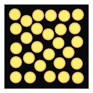 Lemon Tart Pattern Sunny Yellow Invites