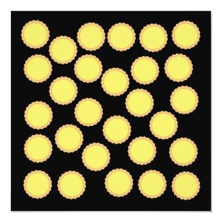 Lemon Tart Pattern. Sunny Yellow. Invites
