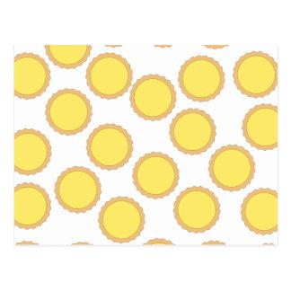 Lemon Tart Pattern Sunny Yellow Post Cards