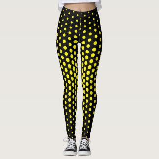 Lemon Techno Dot Pattern Leggings