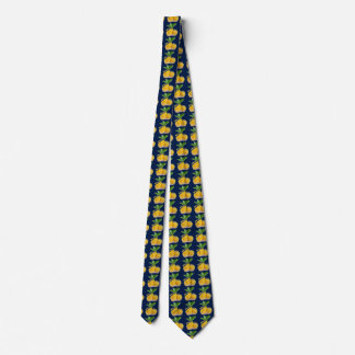 LEMON TIE DARK BLUE BACKGROUND