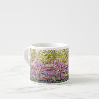 lemon tree art espresso mug