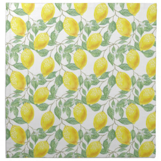 Lemon Tree Pattern Napkin