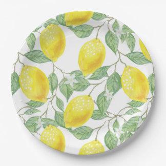 Lemon Tree Pattern Paper Plate